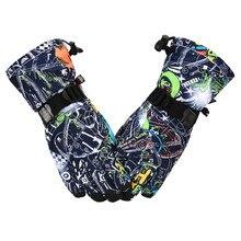 Лыжные перчатки для детей, перчатки для сноуборда, лыжные варежки для девочек, теплые зимние перчатки для катания на лыжах, зимние варежки, водонепроницаемые, для сноуборда