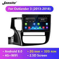"Jansite 10 ""Android Auto Radio Für Mitsubishi Outlander 3 2013-2018 4G Android 8.0 2.5D Touch screen multimedia player mit rahmen"