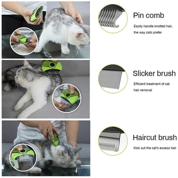 Cat Hair Removal Comb 3 in 1  2