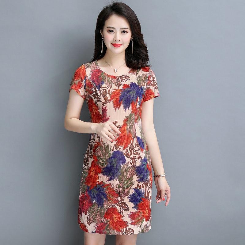 Summer Knee Length Short One Piece Dress Fashion Dresses