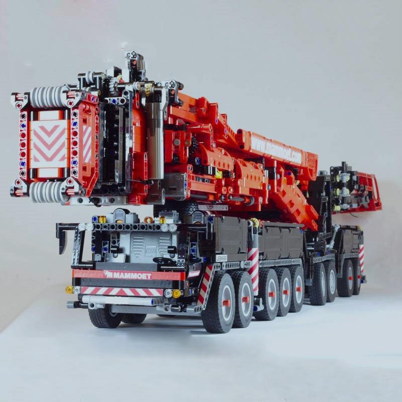 Nouvelle puissance Mobile grue bâtiment LTM11200 RC Technic moteurs Kits blocs briques fit pour legoinglys anniversaire enfants cadeau