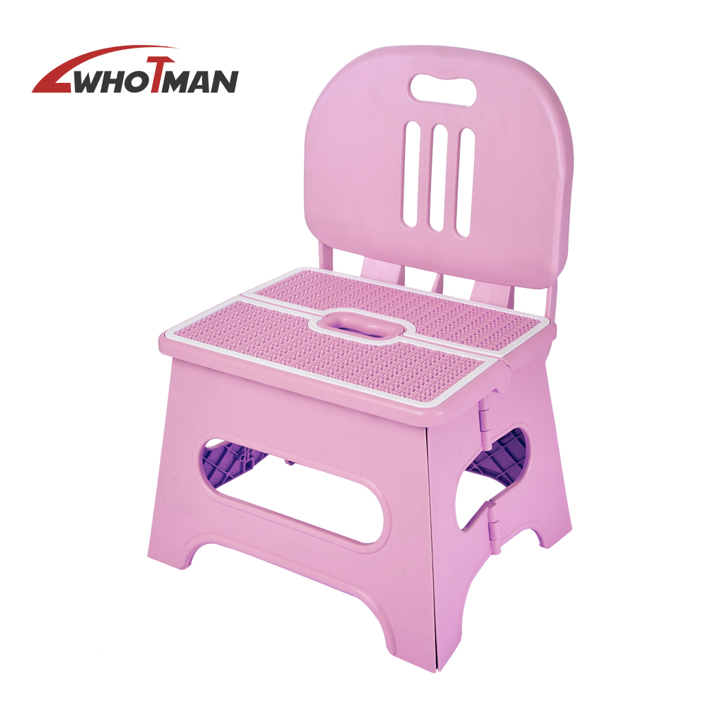 Baby High Chairs Kids Seat Children Chair Neat Backrest Children Chair Pink Cute Safe Convenient Folding Step Stool