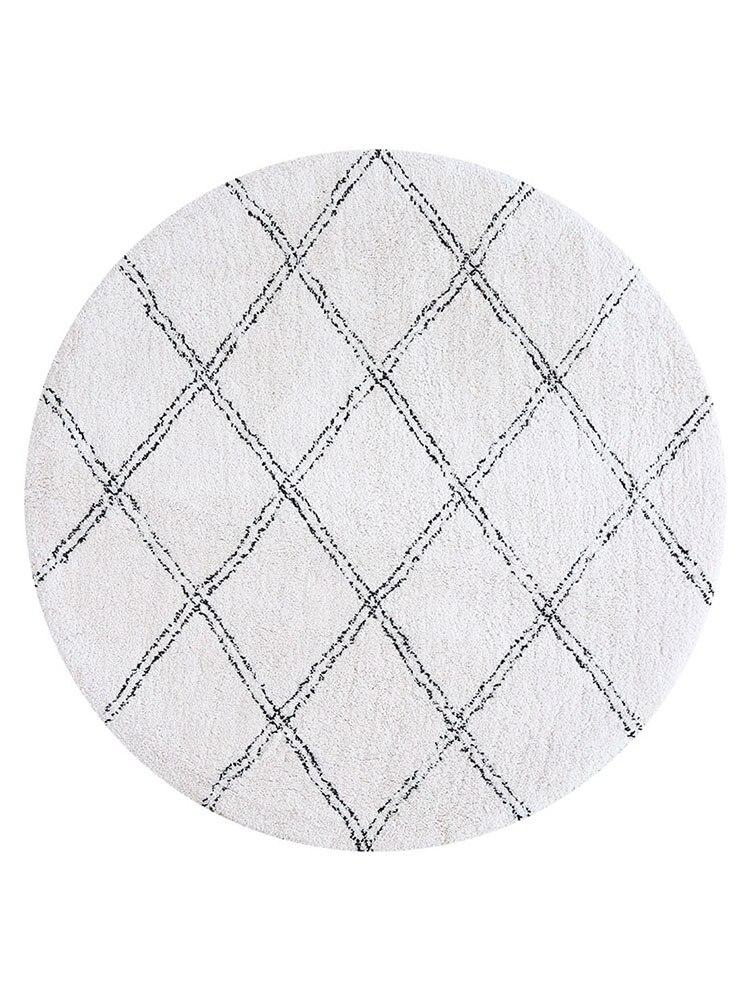 chambre nordique rond tapis tapis