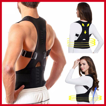 Fajas Para Men&Women Adjustable Magnetic Posture Corrector Corset Back Brace Belt Lumbar Support Straight S-3XL