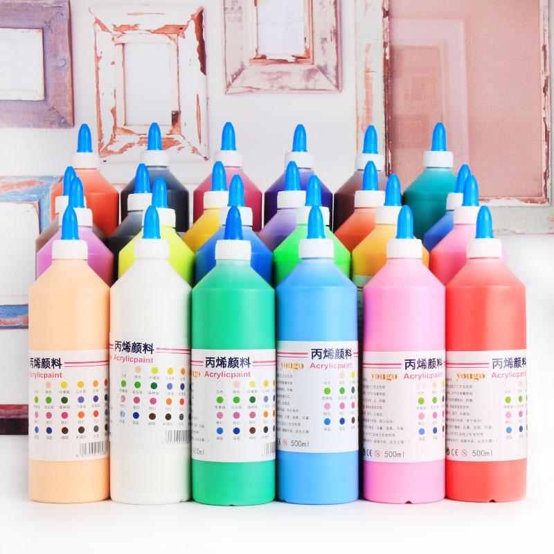 Acrylic Paint 500ML Per Bottle / Painting Set / Ceramic Plaster Painting Graffiti Acrylic Art Paint / Art Supplies