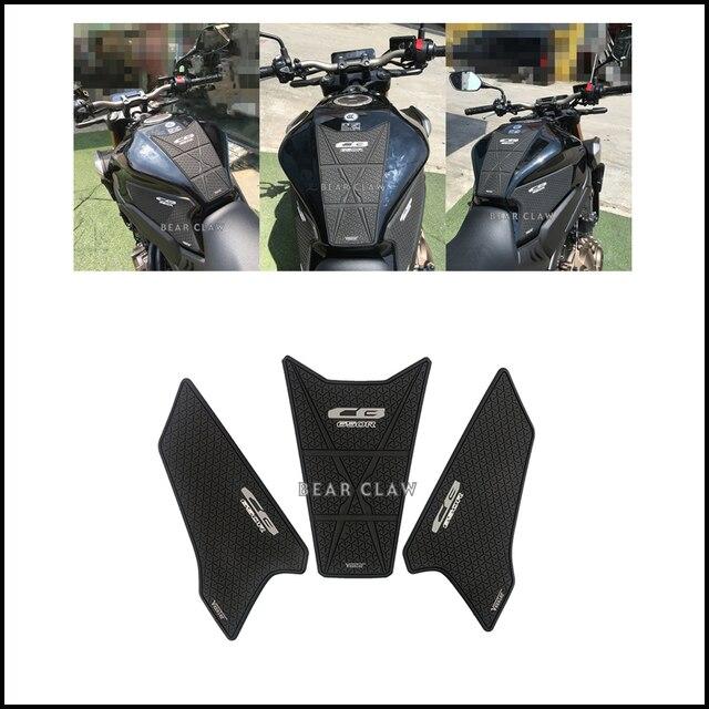 Motorcycle Tank Pad Sticker For Honda CB650R CBR650R Oil tank Protector Anti slip tank grip Decals