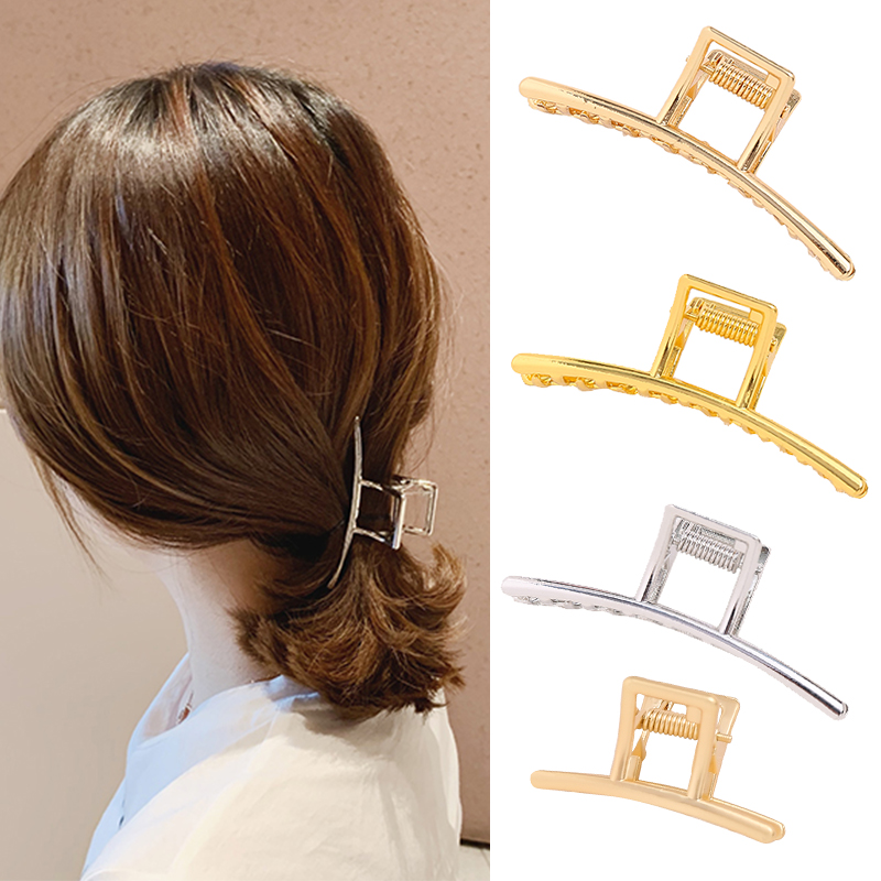 quality alloy crab for hair Metal Hair Claw Clips Gold Silver Alloy Geometric hairpin Wedding Hair Clip