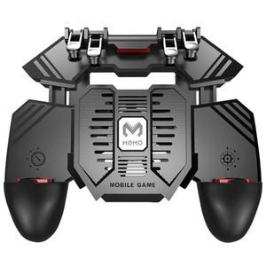 Image 1 - AK77 PUBG Controller Helper Mobile Phone Radiator Six Fingers Linkage Game Button Physical Compression Quick Shooting Handle