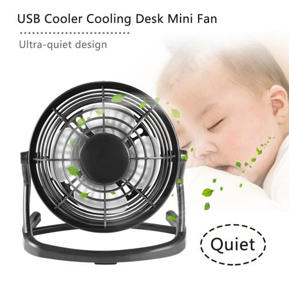 Portable DC <font><b>5V</b></font> Small Desk <font><b>USB</b></font> 4 Blades Cooler Cooling <font><b>Fan</b></font> <font><b>USB</b></font> Mini <font><b>Fans</b></font> Operation Super Mute Silent PC / Laptop / Notebook image