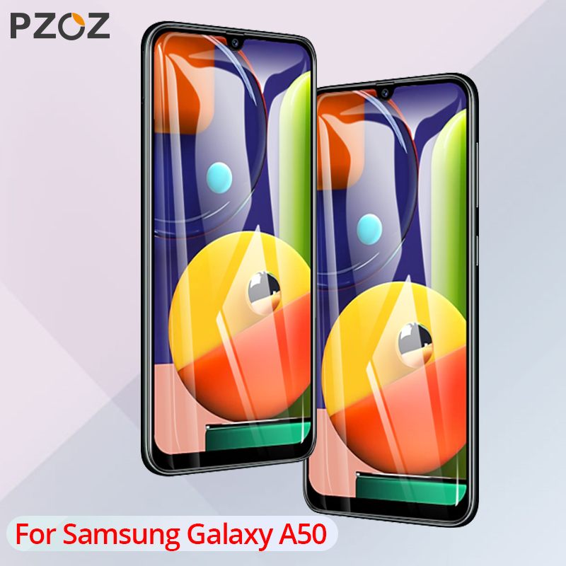 PZOZ For Samsung Galaxy A50 Tempered Glass Screen Protector Film 9H For Samsung Galaxy A50s Mobile Phone Screen Protection Glass