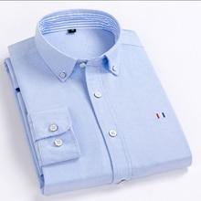 цена на Cotton Oxford Shirt Casual Street Button Down Long Sleeve Long-sleeved Cotton Shirt Korean Men's Fashion