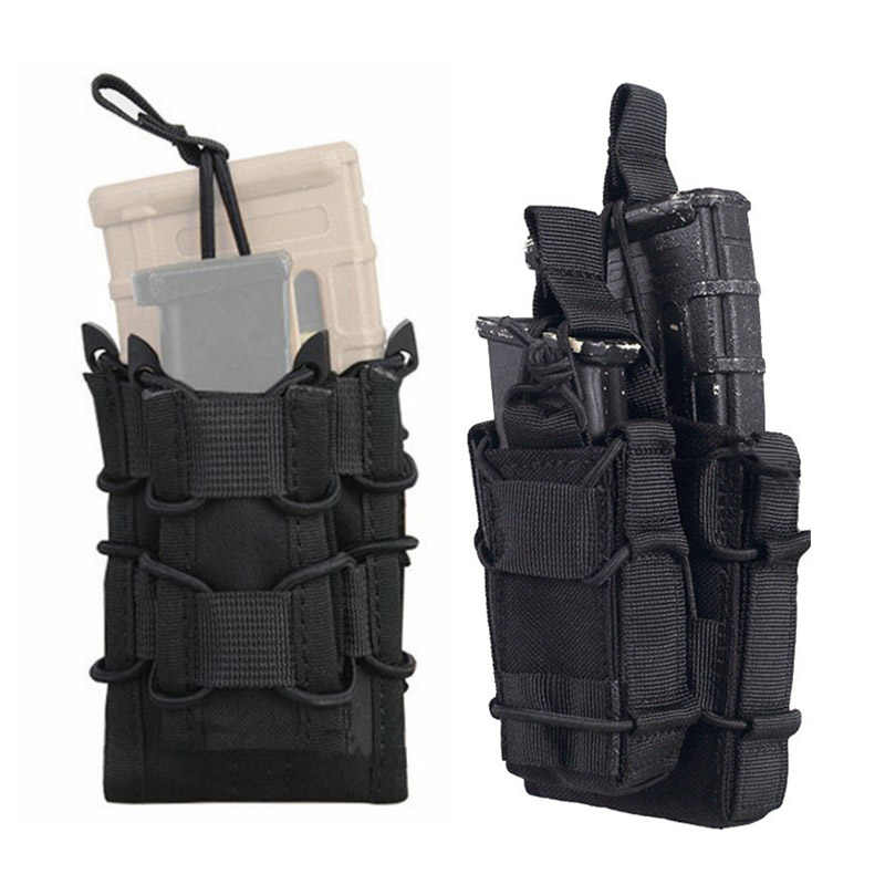Militaire Magazine Pouch Cartridge Bag Nylon Tactische Single Rifle Pistol Holster Gun Case Molle Mag Pouch Jacht Accessoires