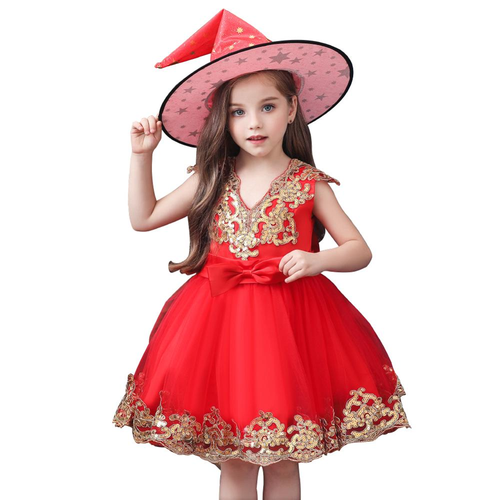 christmas <font><b>dress</b></font> girls Halloween Costume <font><b>Party</b></font> Children Kids Cosplay Costume For Girls <font><b>Dress</b></font> With Hat 3 5 7 9 11 <font><b>13</b></font> <font><b>years</b></font> <font><b>old</b></font> image