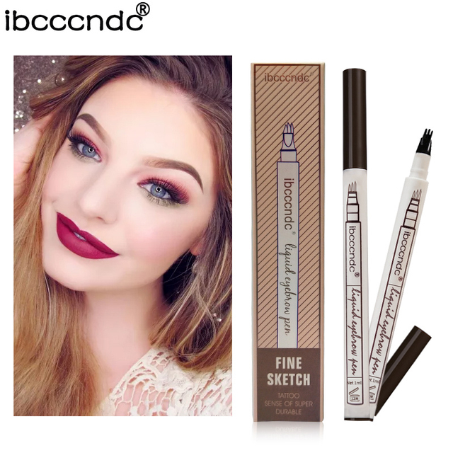 Microblading Eyebrow Tattoo Pen Fine Sketch Liquid Eyebrow Pen Waterproof Tattoo Eye Brow Pencil Smudge-proof Dropshipping