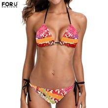 Forudesigns женская летняя пляжная одежда в стиле Коран с цветочным