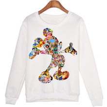 Харадзюку мультфильм микки печать Джокер тренд пуловер свитшот