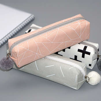 Creative Large Capacity Pencil Case Kawaii Student Pen Bag Box Cute Canvas Pencilcase School Office Stationary Supplies 050012