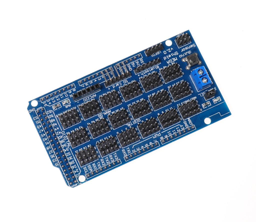 For Arduino MEGA Sensor Shield V1.0 V2.0 Dedicated Expansion Development Board MEGA 2560 Sup IIC Bluetooth SD Robot Parts DIY