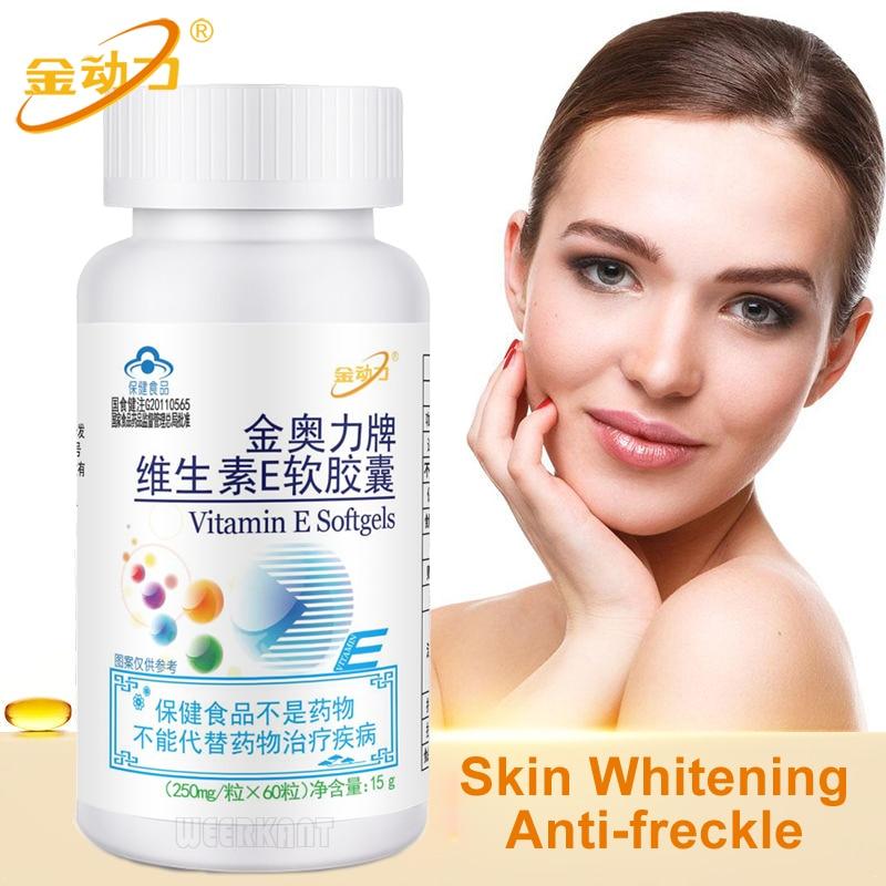 Vitamins E for Women Anti Aging Vitamina E Capsules Natural Whitening Freckle Pills Remove Melasma Acne Stains
