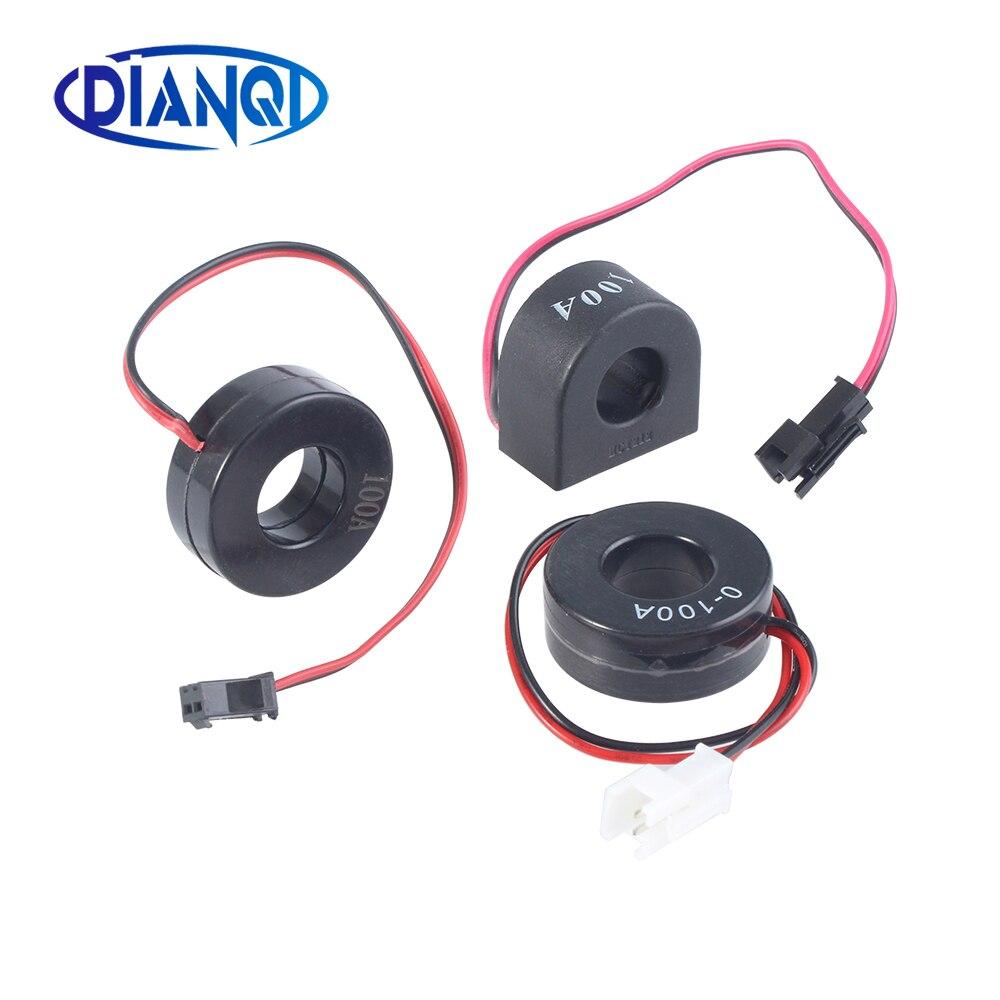Трансформатор переменного тока CT для мини-амперметра, измеритель тока 0-1000 A: 1