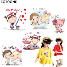 ZOTOONE DIY Heat Transfer Patches Girls  Iron-on Patches for Clothing Children T-shirt Decoration Heat Press Appliqued Sticker I flyingbee diy heat transfer patches weird thing iron on patches for clothing t shirt decoration heat press appliqued x0657