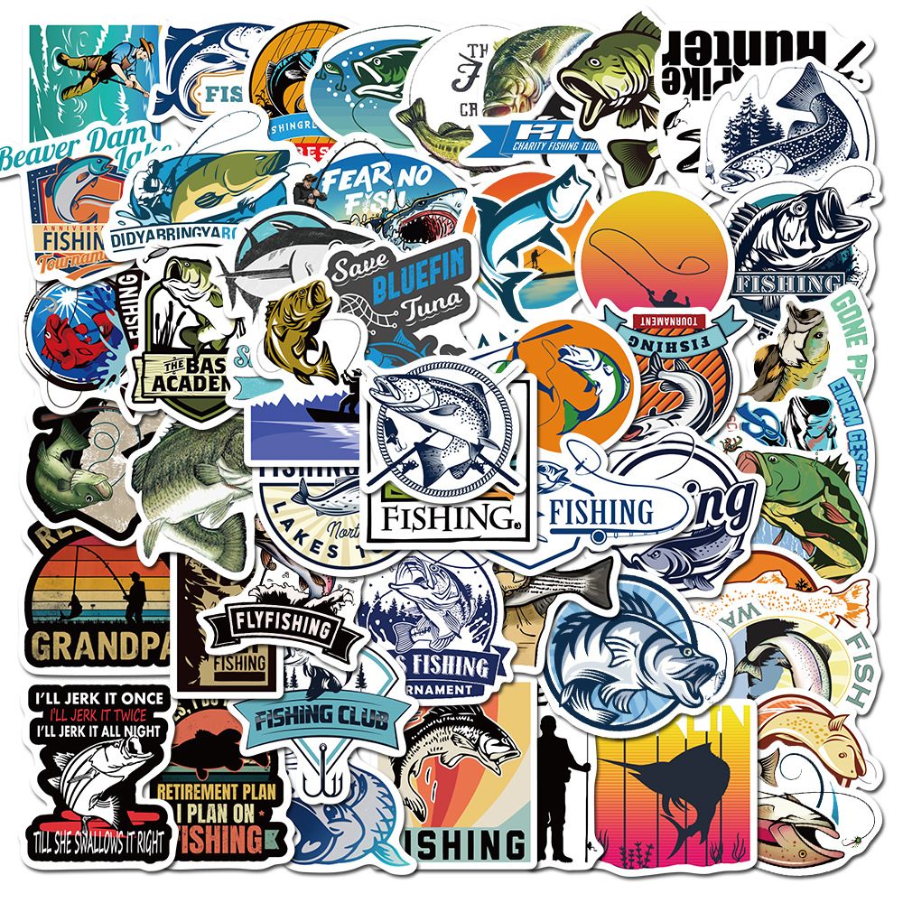Hooked on Fishing Sticker Pack (50 piece) 6
