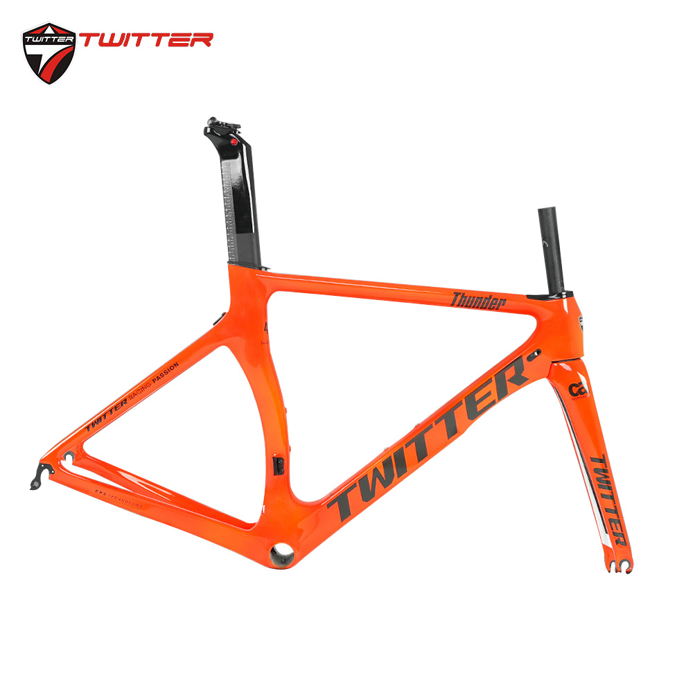2020 New Come Thunder Twitter Carbon Racing Road Bike 700c Frame