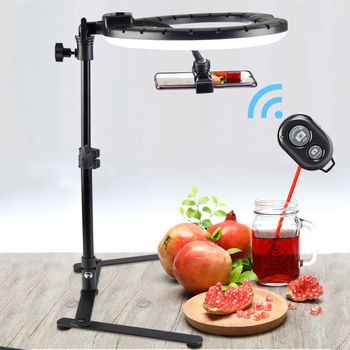 26CM Photography Lighting Phone Ringlight Tripod Stand Photo Led Selfie Bluetooth Fill Ring Light Lamp Video Youtube Live COOK led selfie ring light tripod 26cm photo studio photography photo fill ring lamp with tripod stand for youtube live video makeup
