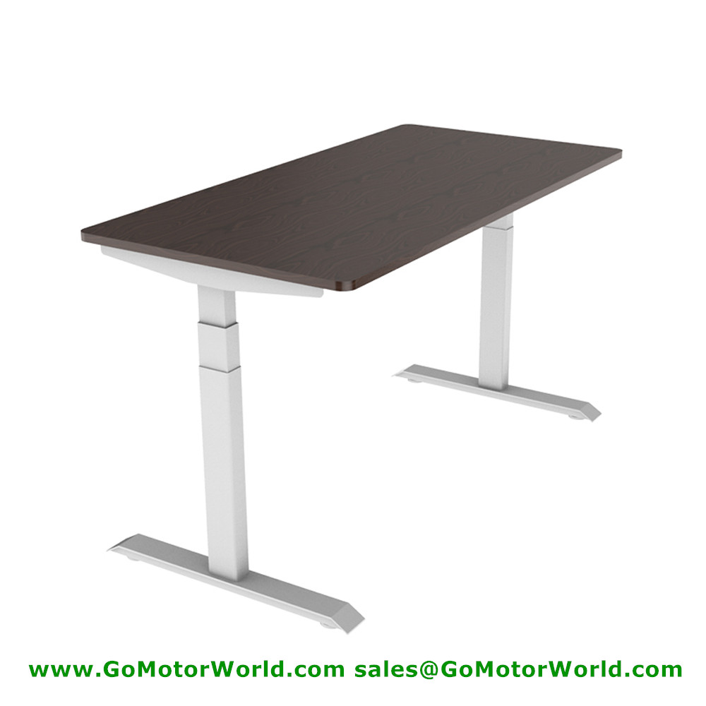 Free Shipping To Asia Best Electric Sit To Stand Desks Mini Height 560mm Max Height 1210mm 35mm/s Speed 100KG Lift