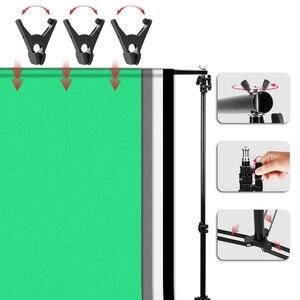 Image 5 - Zuochen Fotostudio Led Licht Softbox Verlichting Kit 4 Achtergronden Voor Fotografie Schieten Facebook Live