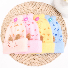 Rabbit Ear Knitted Baby Winter Hat For Kids Handmade Beanies Double Side Bonnet Warm Hats Cute Caps 2019 Hot Sale