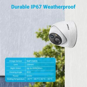 Image 5 - ANNKE 5MP Lite Security Camera System H.265+ DVR Surveillance with 8pcs 5MP PIR Outdoor Cameras IP67 Weatherproof Security Kit