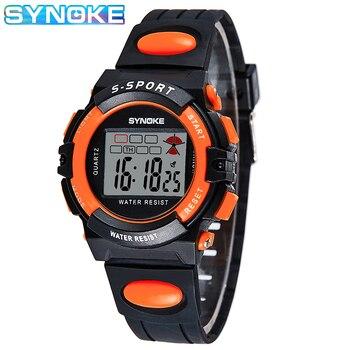 SYNOKE Children's Watch Led Sport Digital Student Black Clock for Boys Girls Multifunction Electronic Wrist Watch Kids Watches