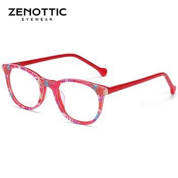 ZENOTTIC Optical Pink Cute Eyeglasses  2