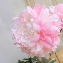 10pc/lot DIY simulation artificial peony flower head big wreath wedding decoration flore wall fake silk ball
