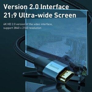Image 3 - Baseus HDMI Kabel 4K 60HZ HDMI zu HDMI 2,0 erweiterung Splitter Kabel für TV Schalter Projektor Laptop Büro video Kabel HDMI