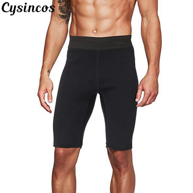 CYSINCOS Male Slimming Body Shapers Men Fitness Stretch Shorts Pants Neoprene Weight Loss  Fat Sporters Control Shorts