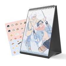 New 2021 Here U Are Anime Calendar Li Huan, Yu Yang Cartoon Characters Desk Calendars Daily Schedule Planner