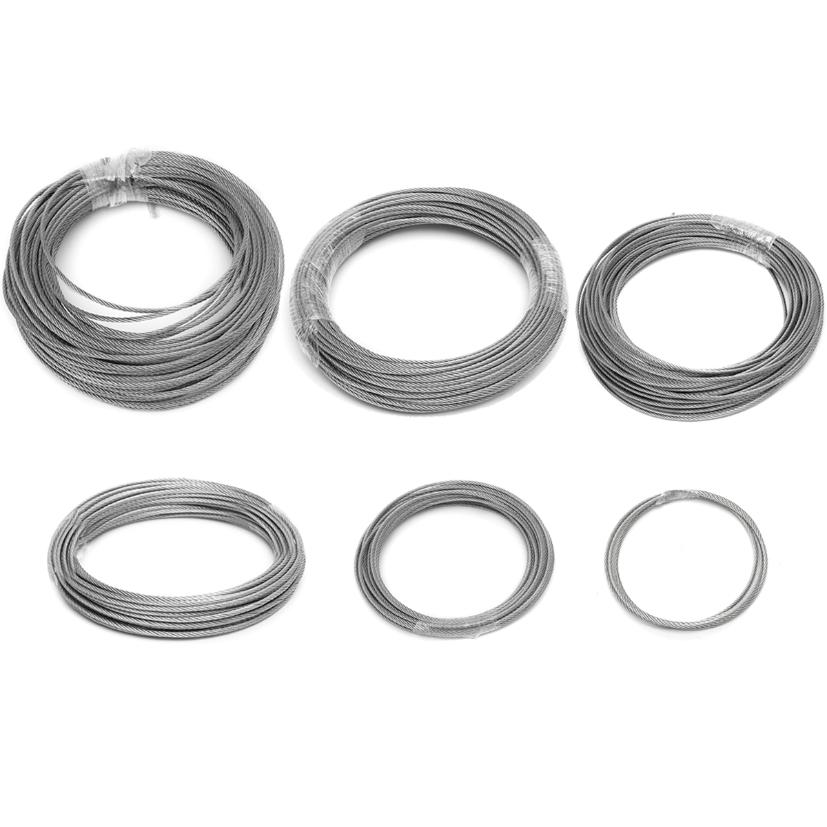 Stainless Steel Wire Rope Tensile Diameter 3mm Structure Cable Fishing Lifting Cable Clothesline 1M/ 5M/ 10M/15M/ 20M/25M