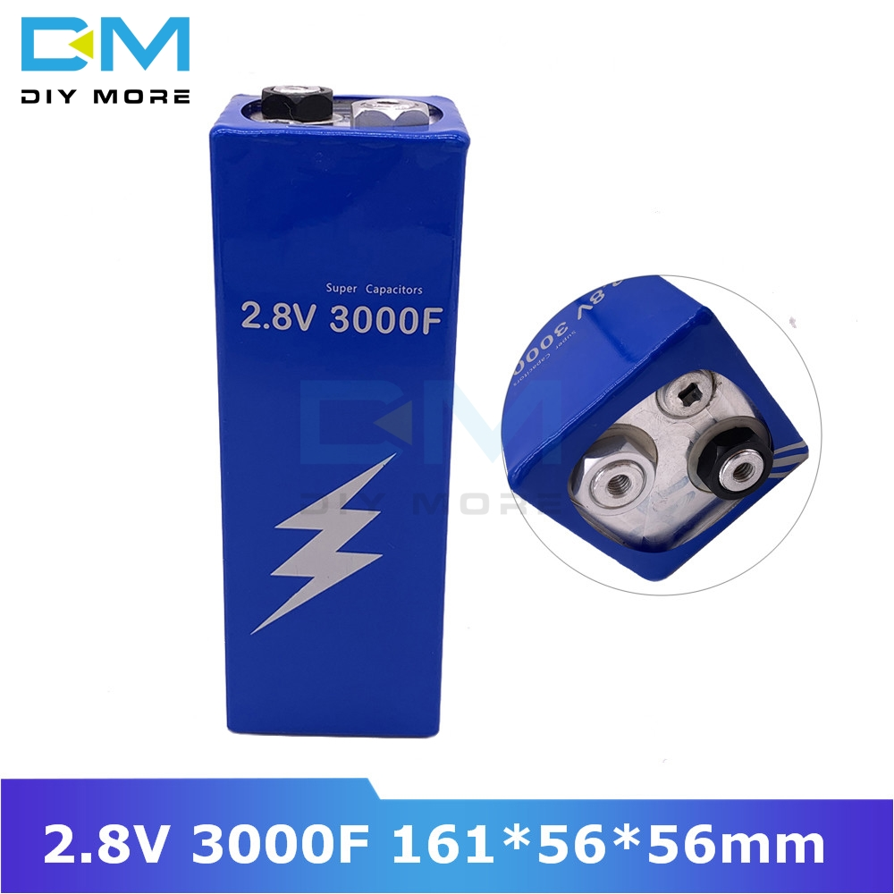 Super Farad Capacitor 2.8V 3000F 161*56*56mm Low ESR High Frequency Super Capacitor Ultracapacitor For Car Auto Power Supply