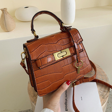 stone Pattern Leather Crossbody Bags For Women 2019 Fashion