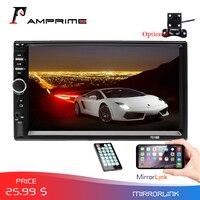 AMPrime 2din Car Radio 7 HD Autoradio Multimedia Player 2 DIN Touch Screen Auto audio Car Stereo MP5 Bluetooth USB TF FM Camera