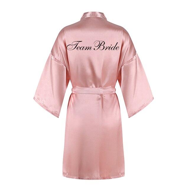 2020 nowy 3 zestaw pc brokat czarny teambride satin krótki szlafrok kapcie zespół bride sash peignoir kobiety wesele szaty