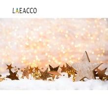 Laeacco Christmas Star Snow Polka Dots Child Portrait Photographic Backdrops Backgrounds Photocall Photo Studio