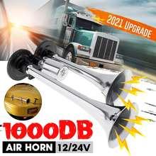 1000db chifre de ar do carro super alto tweeter chifre elétrico duplo tubos buzina de ar universal para automóvel carro trem caminhão motocicleta