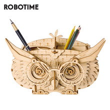 Robotime DIY Owl Box Storage Box 3D Wooden Puzzle Toys Assembly Model Desk Decor Toys for Children TG405(China)