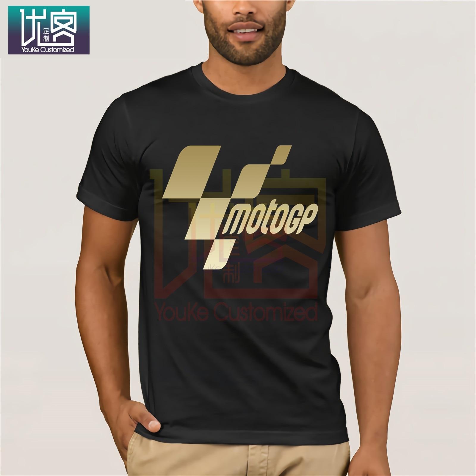 Moto Gp Logo 2019 Shirt Rossi Moto Gp Logo Shirt For Team 46 Mens The Doctor Black White T-Shirt Motocycle Vintage Crew Neck