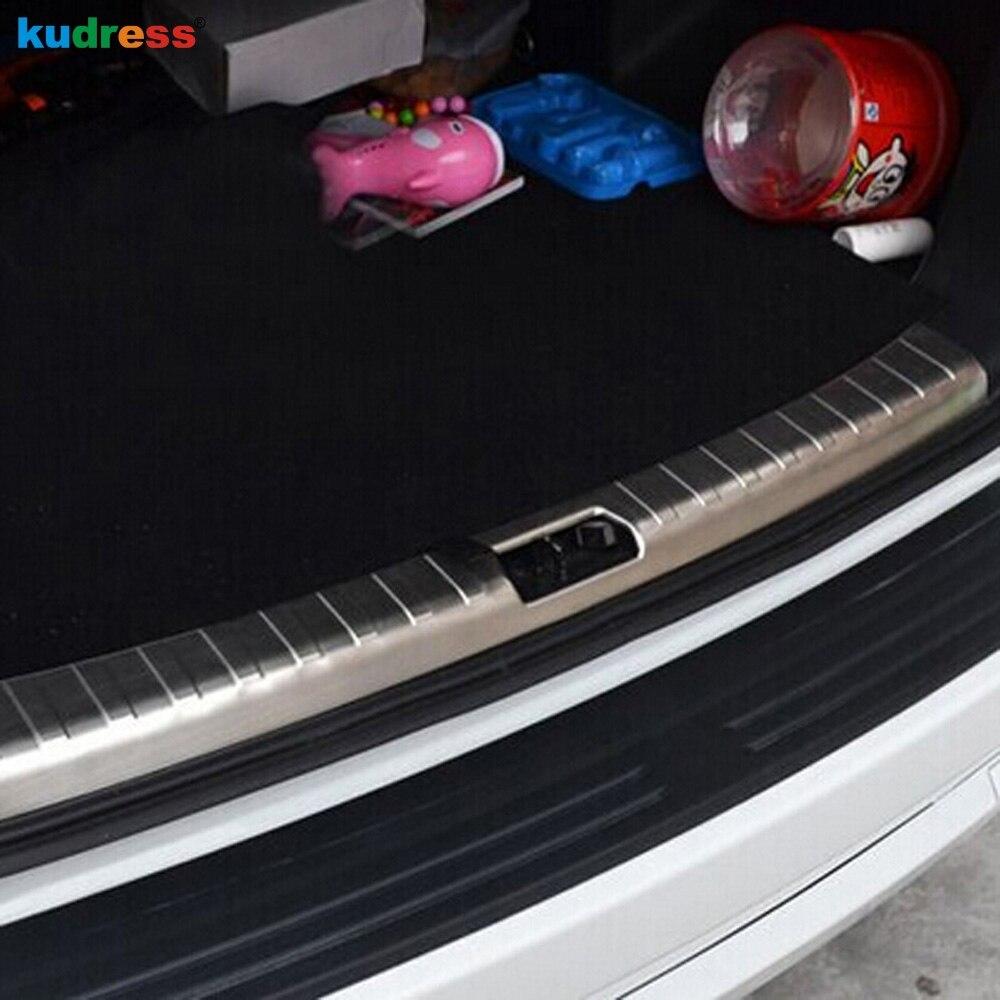 Pour Land Rover Freelander 2 2008 2009 2010 2011 2012 2013 2014 en acier inoxydable bas de porte arrière plaque pare-chocs protecteur garnitures 1 pièces