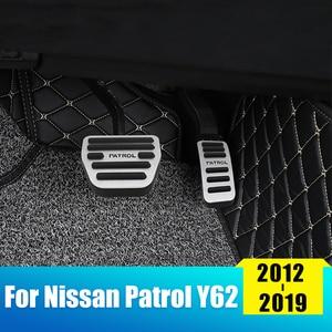 Противоскользящие педали для автомобиля, чехол для Nissan Patrol Y62 2012 2013 2014 2015 2016 2017 2018 2019
