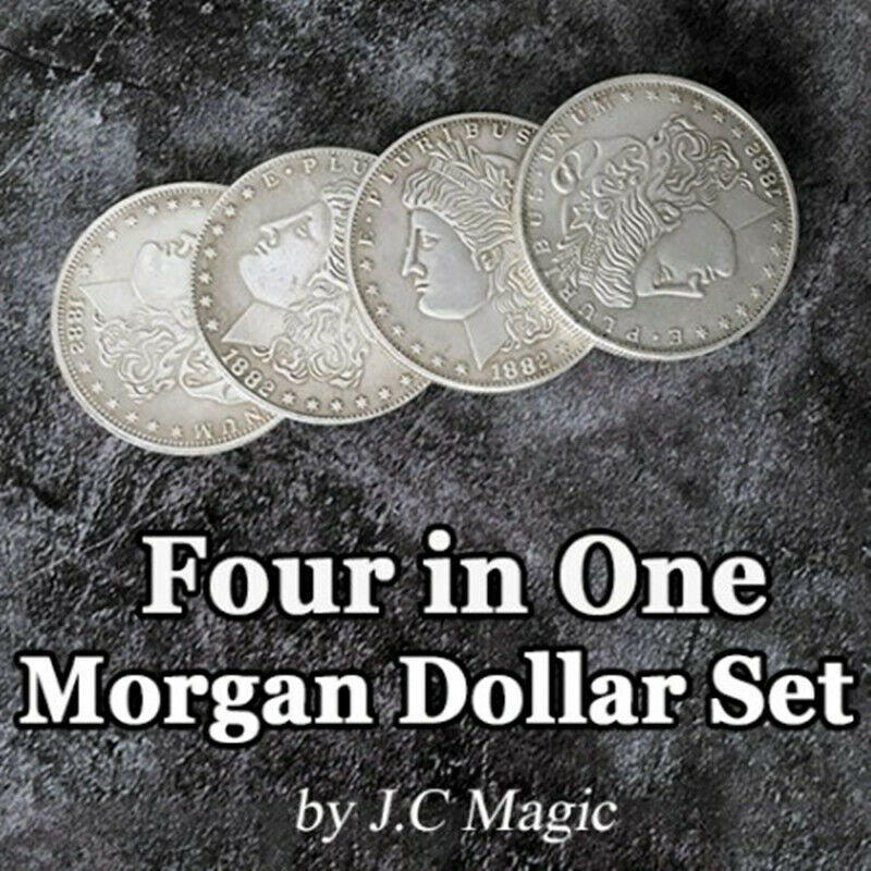 Four In One Morgan Dollar Set Copper By J.C Magic Coin Magic Tricks Illusion Coin Appear/Vanish Jumping Close Up Magic Gimmick